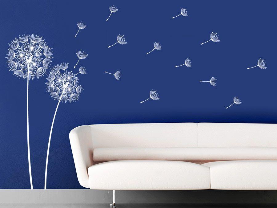 Vom Winde verwehte Pusteblumen Pusteblume, Wandtattoo und - wandtattoos f r wohnzimmer