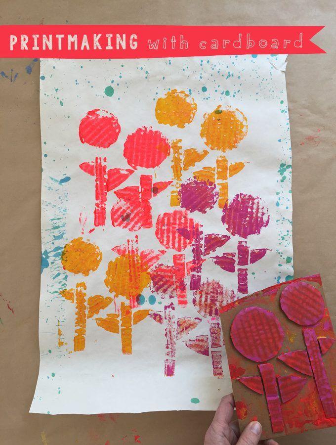 Photo of Printmaking with Kids using Cardboard