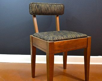 sale - beautiful dark brown mid century modern danish sewing chair
