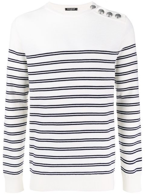 various design sale usa online save off BALMAIN PULL MARINIERE A MANCHES RAGLAN ET. #balmain #cloth ...