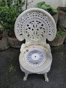 How to Make White Painted Furniture Look Distressed - What a gorgeous piece of furniture!  Art deco?