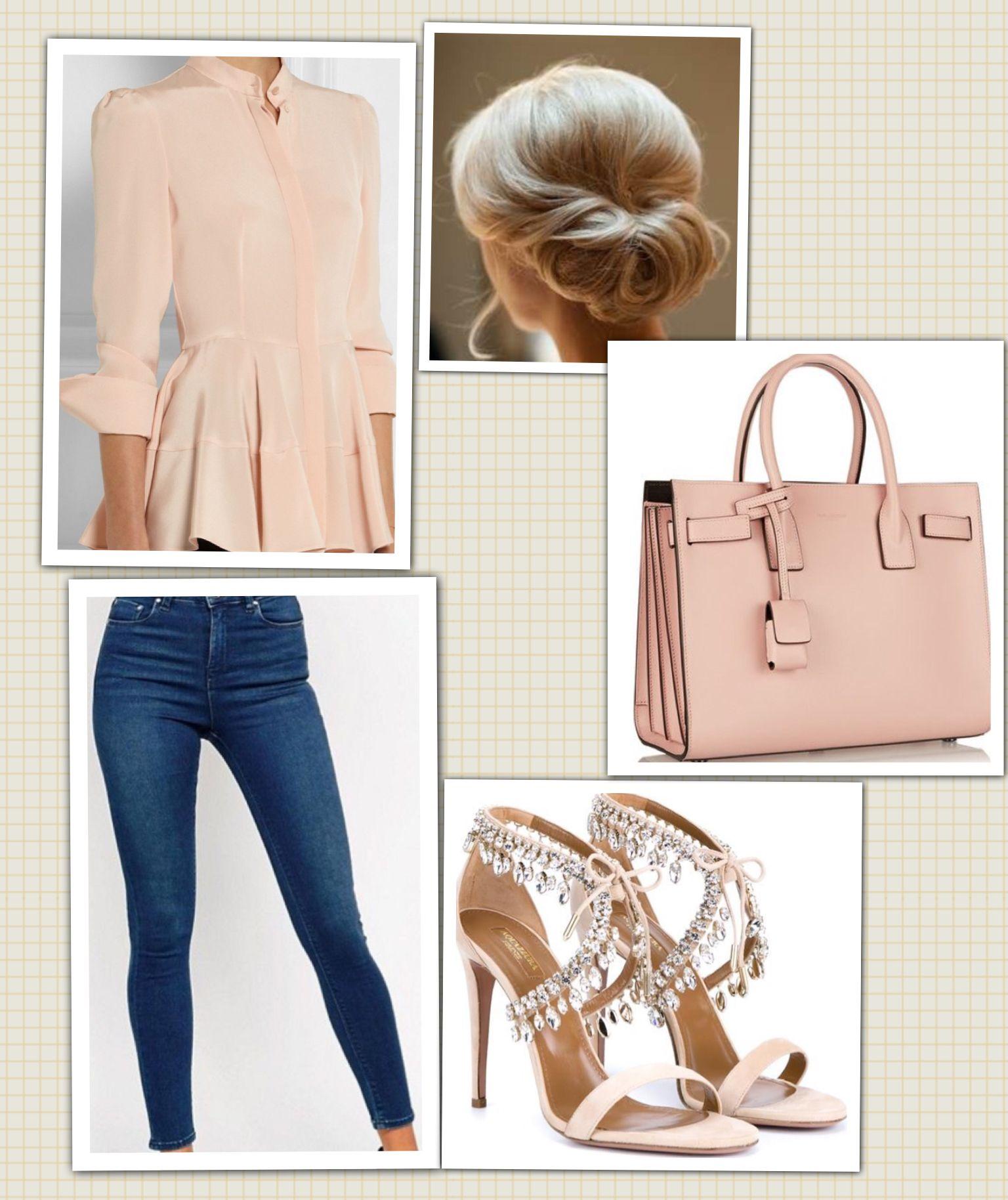 Top: Alexander McQueen Jean: ASOS Bag: Balenciaga Shoes: Aqazzura