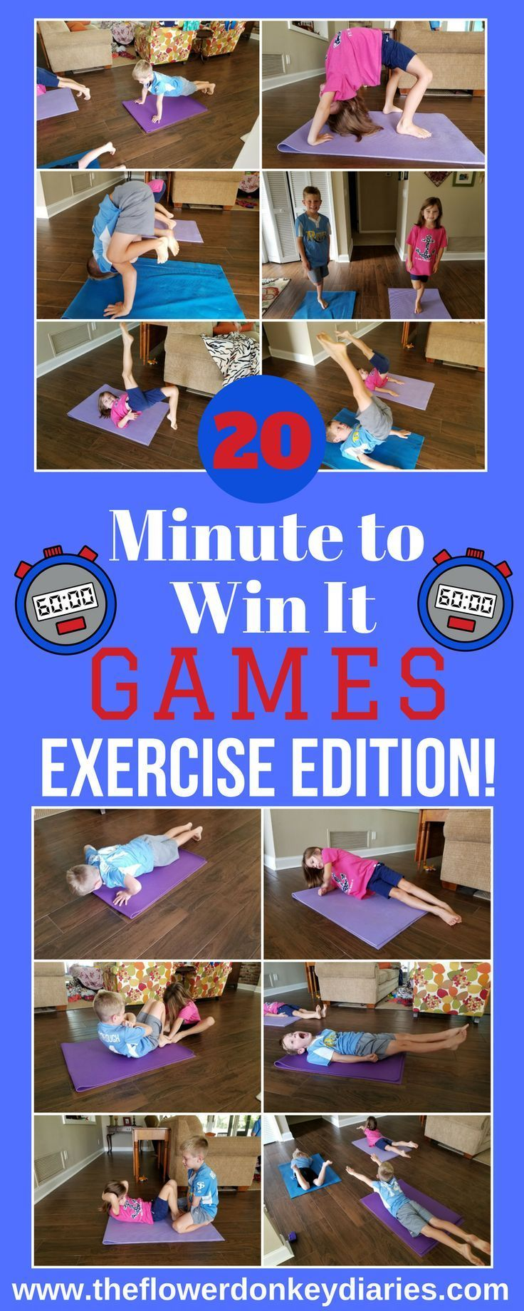 Minute to Win It Exercise Edition! Exercise for kids