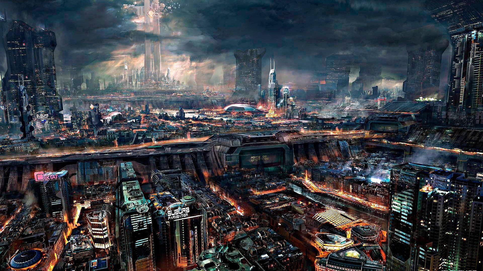 City Computer Wallpapers Desktop Backgrounds 1920x1080 Id 213456 Futuristic City Cyberpunk City Cyberpunk Art