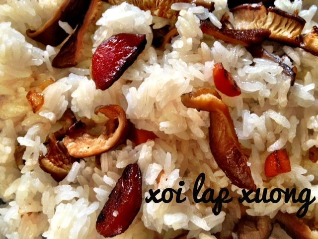 New recipe on the blog! :)    la piglette: Xoi lap xuong
