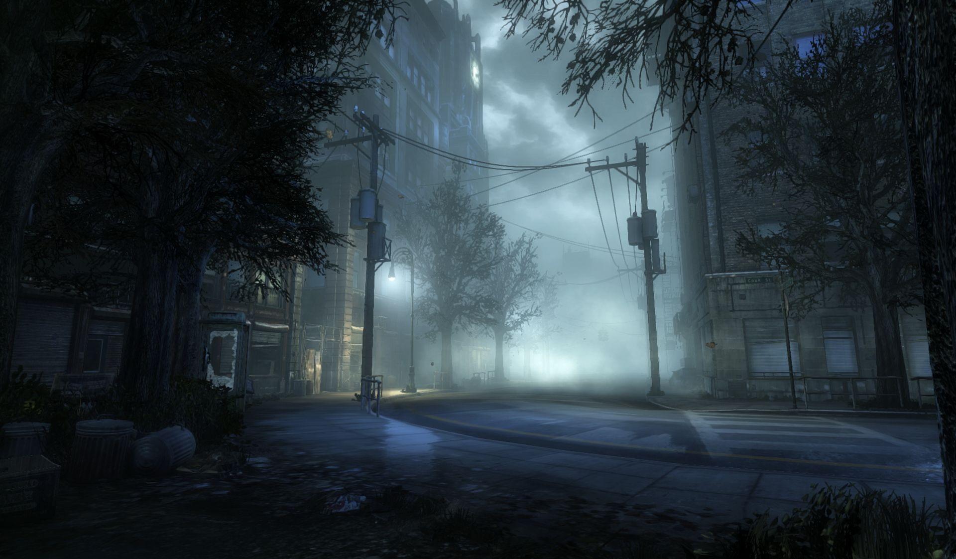Concept Art Fog Town