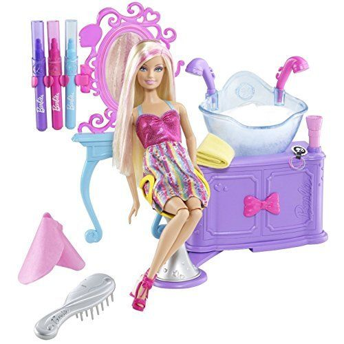 8424aebb8345df Ella asked for this. Barbie Hairtastic Color And Wash Salon Playset by Barbie  Barbie http   www.