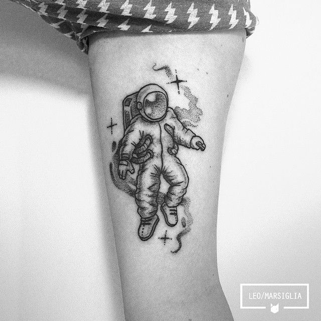 astronaut tattoo ♥