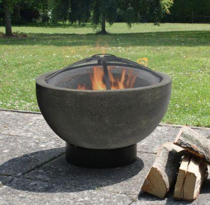 Caleta Concrete Effect Clay Firebowl, 5055025591199 ...
