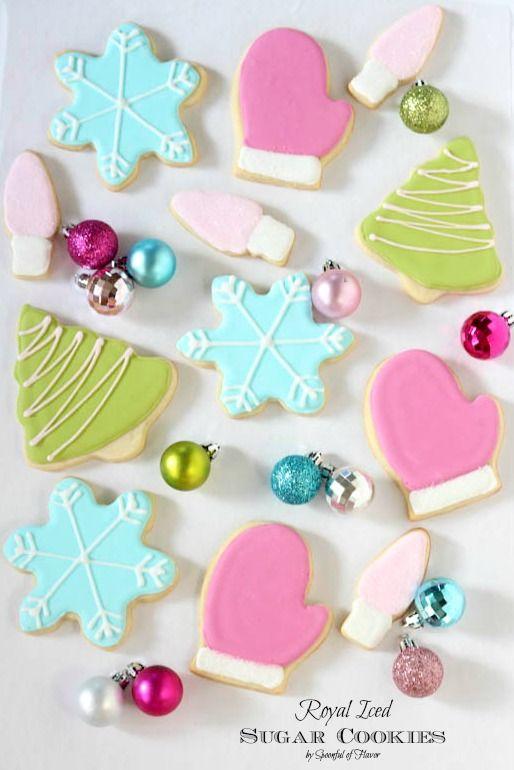 Royal Iced Sugar Cookies #fbcookieswap Christmas sugar cookies