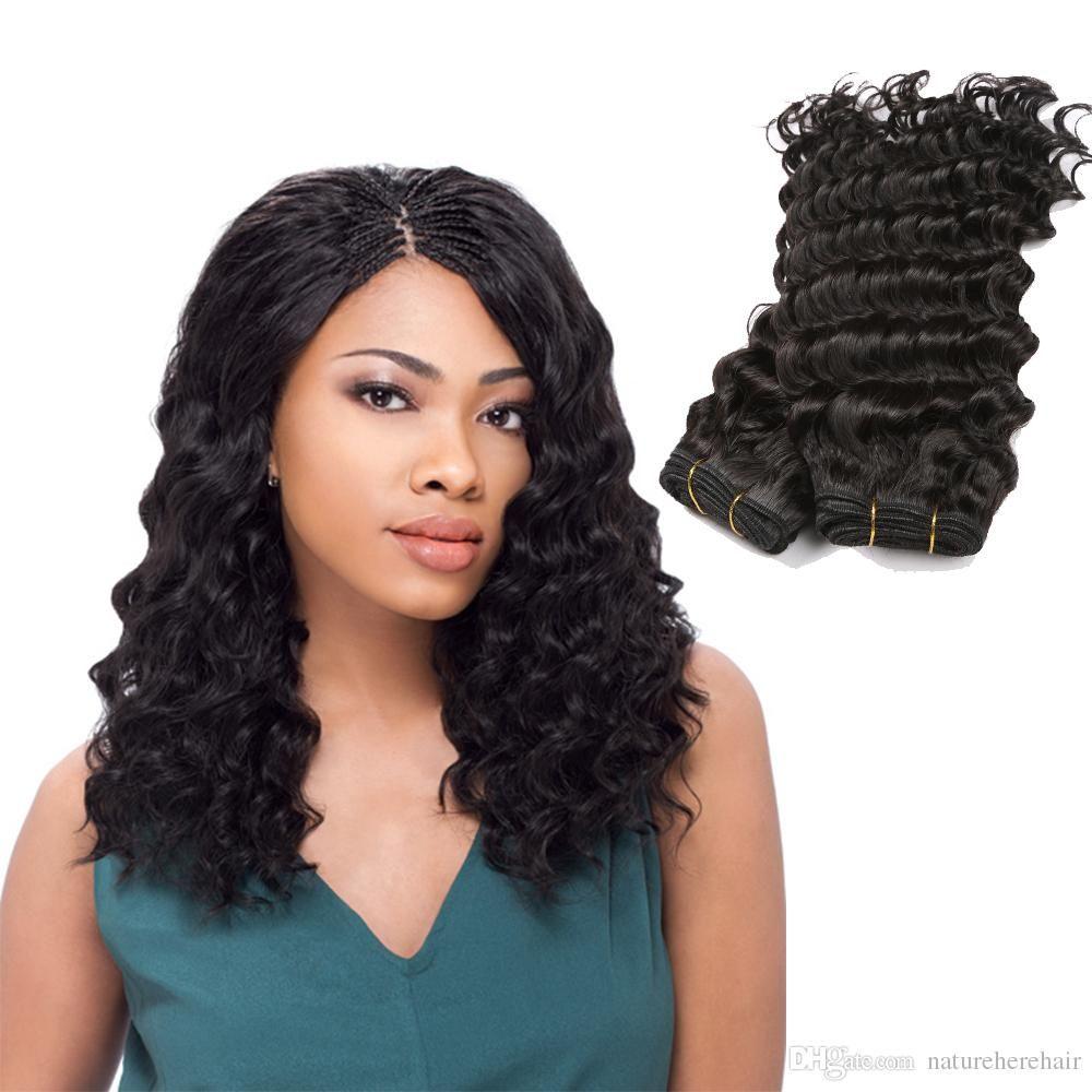 Hot Sale Deep Wave Brazilian Hair Weave Bundles 100 Human Hair