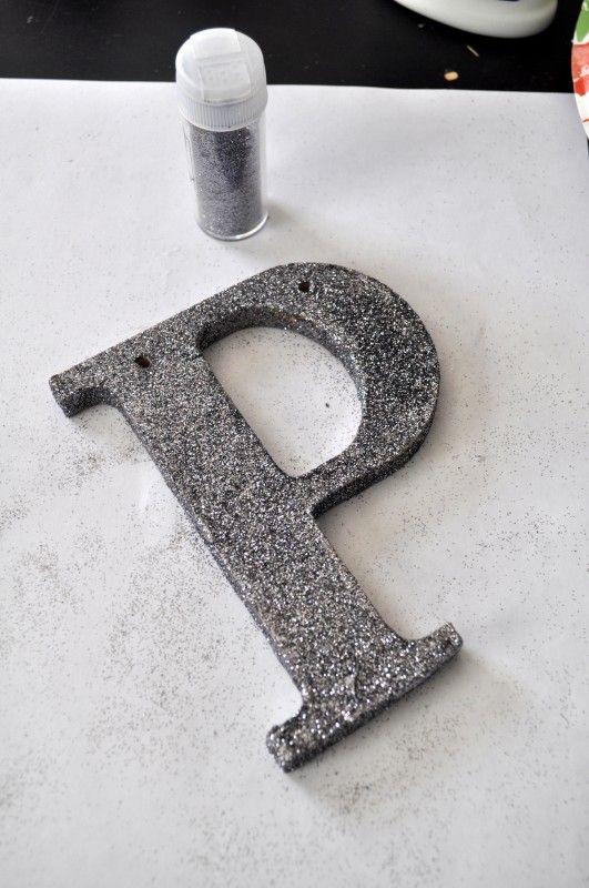 Dazzling Silver Glitter Alphabet Ornament Glitter
