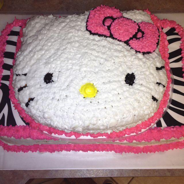 Hello Kitty birthday cake Used the Hello Kitty cake pan and