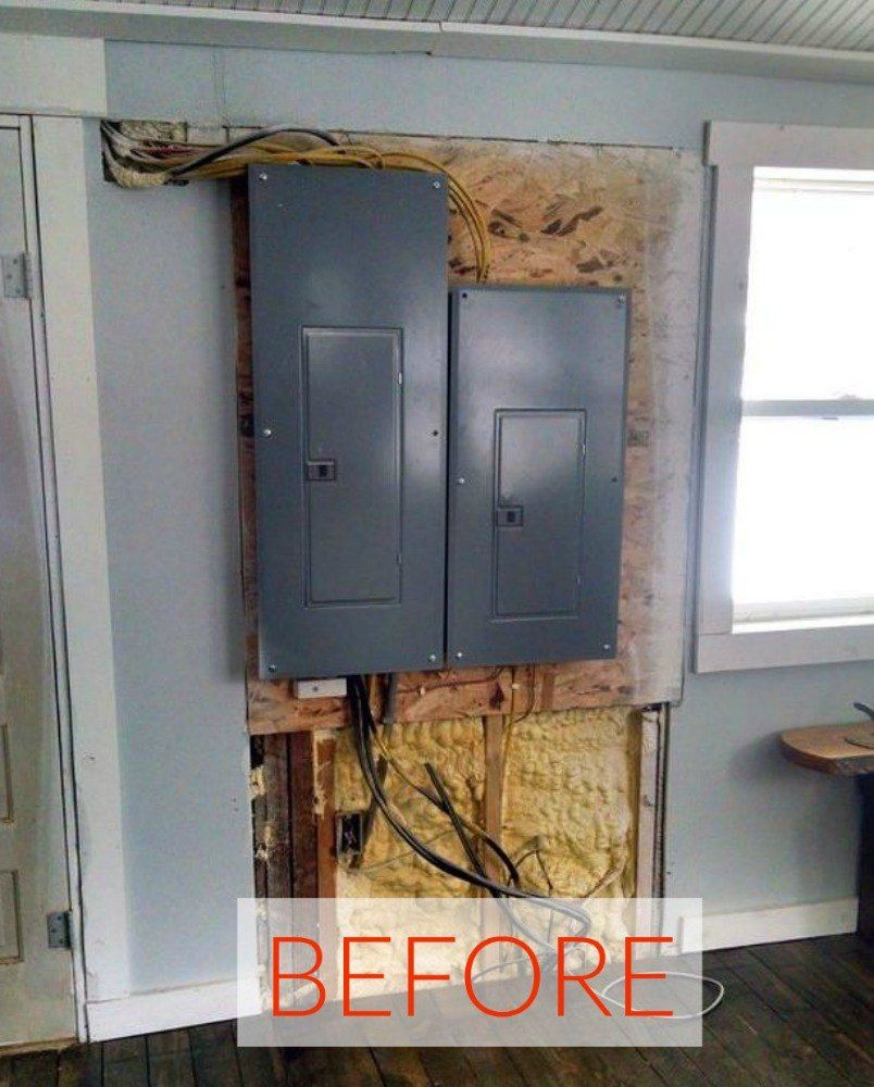 11 Brilliant Ideas To Hide Your Home S Eyesores Hide Electrical Panel Breaker Box Cover Cover Electrical Panel