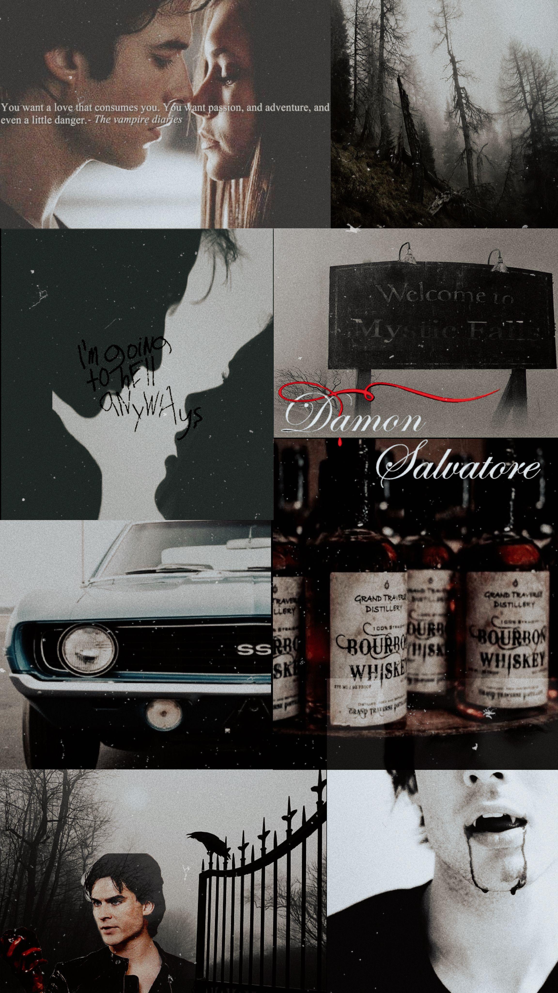 Damon Salvatore Aesthetic Vampire Diaries Wallpaper Vampire Diaries Poster Art Wallpaper Iphone