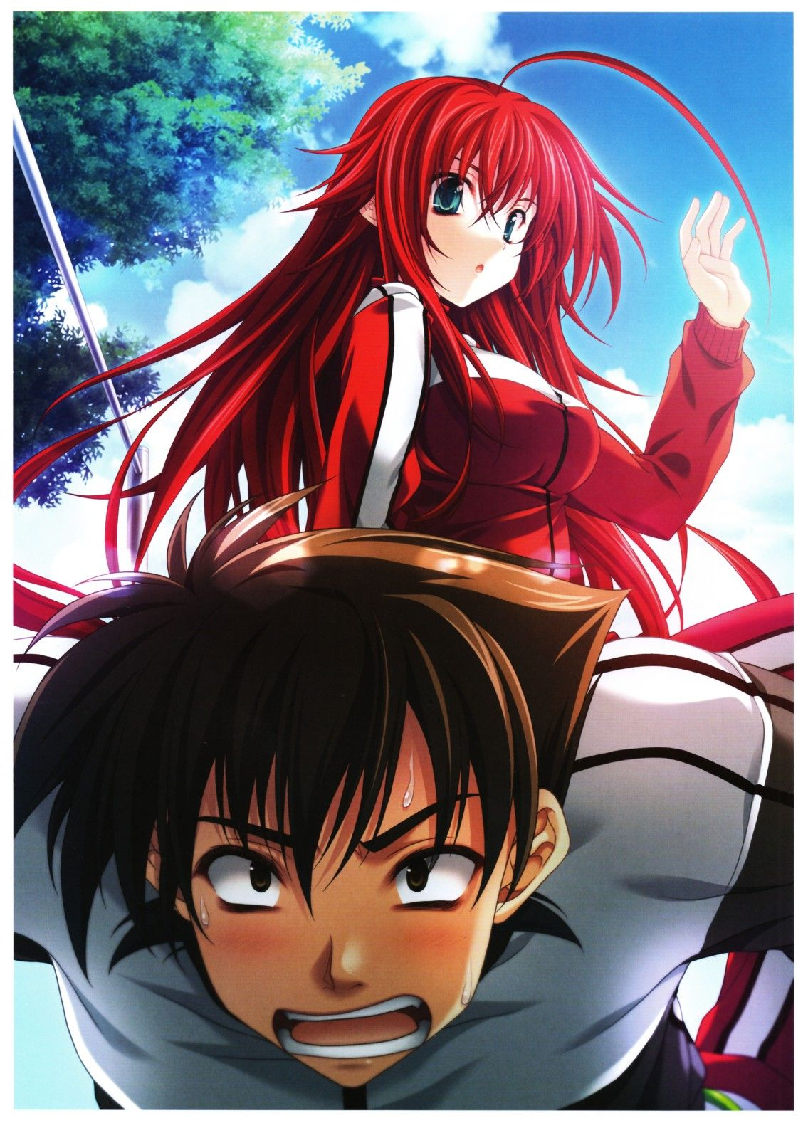 Rias Gremory and Issei High school, Anime, Character drawing