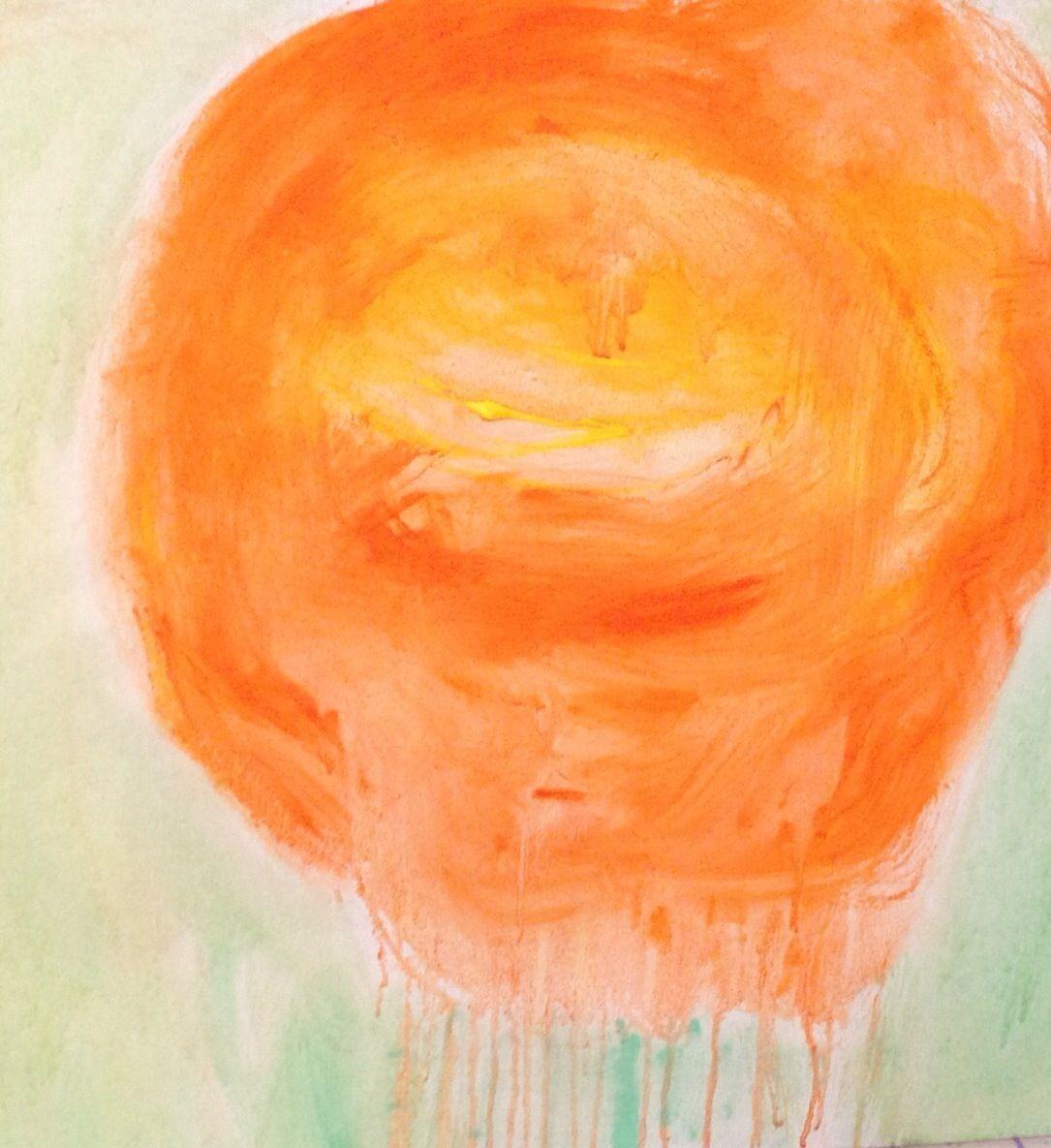 Drippy clementine by Kerri Rosenthal