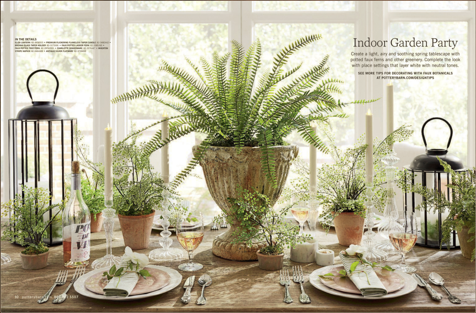 Pottery Barn Spring Green Tablescape With Images Pottery Barn