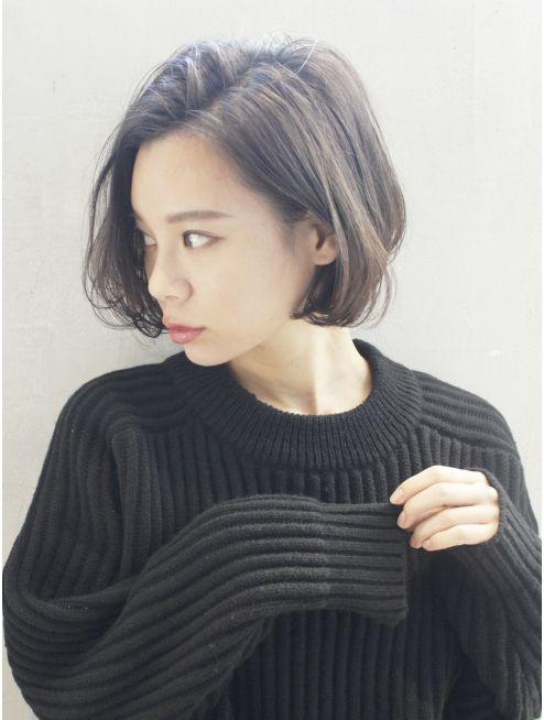 アルバム ハラジュク album harajuku グレージュボブ アシメショートブルージュヴェールウェーブ 830 ショートボブ ショートボブのヘア ボブヘア