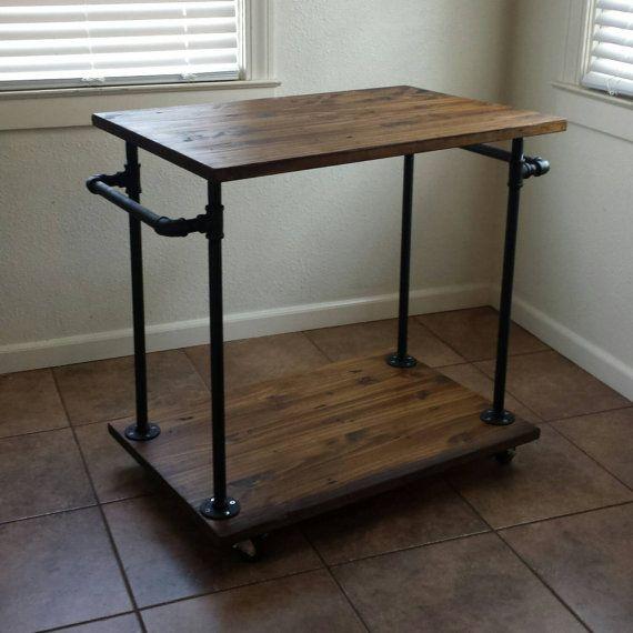 kitchen cart table home depot door hardware industrial bar serving tables by maverickindustrial