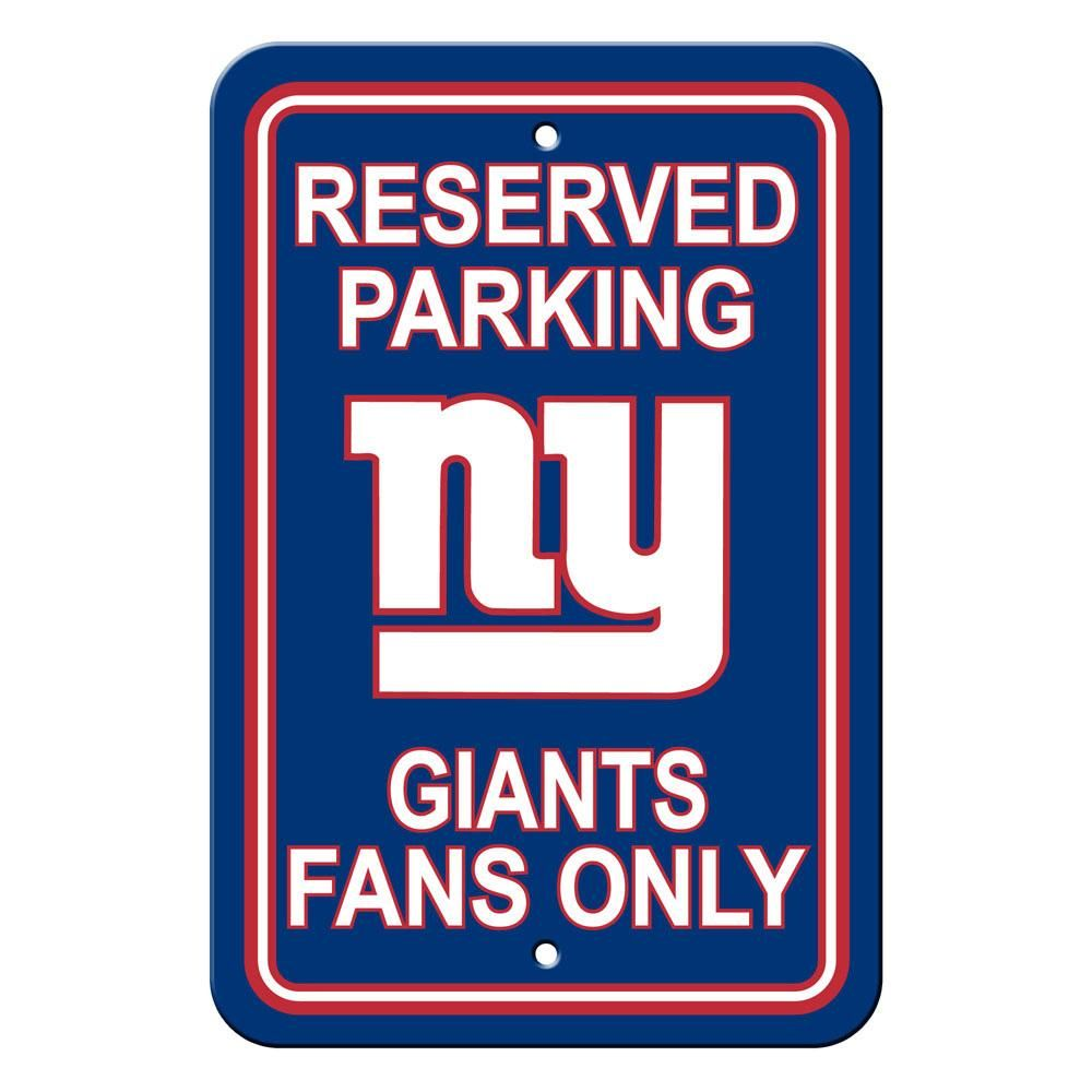 New York Giants Reserved Parking Sign New york giants