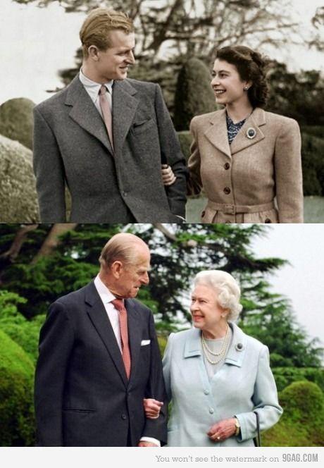 Queen Elizabeth II and Prince Philip: Then & Now