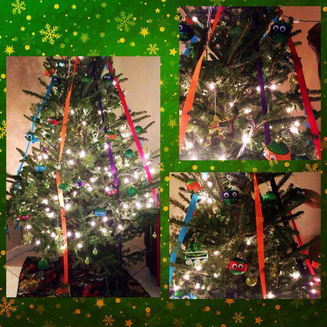 Ninja Turtle Christmas Tree.Our Ninja Turtle Christmas Tree 2014 Christmas Trees