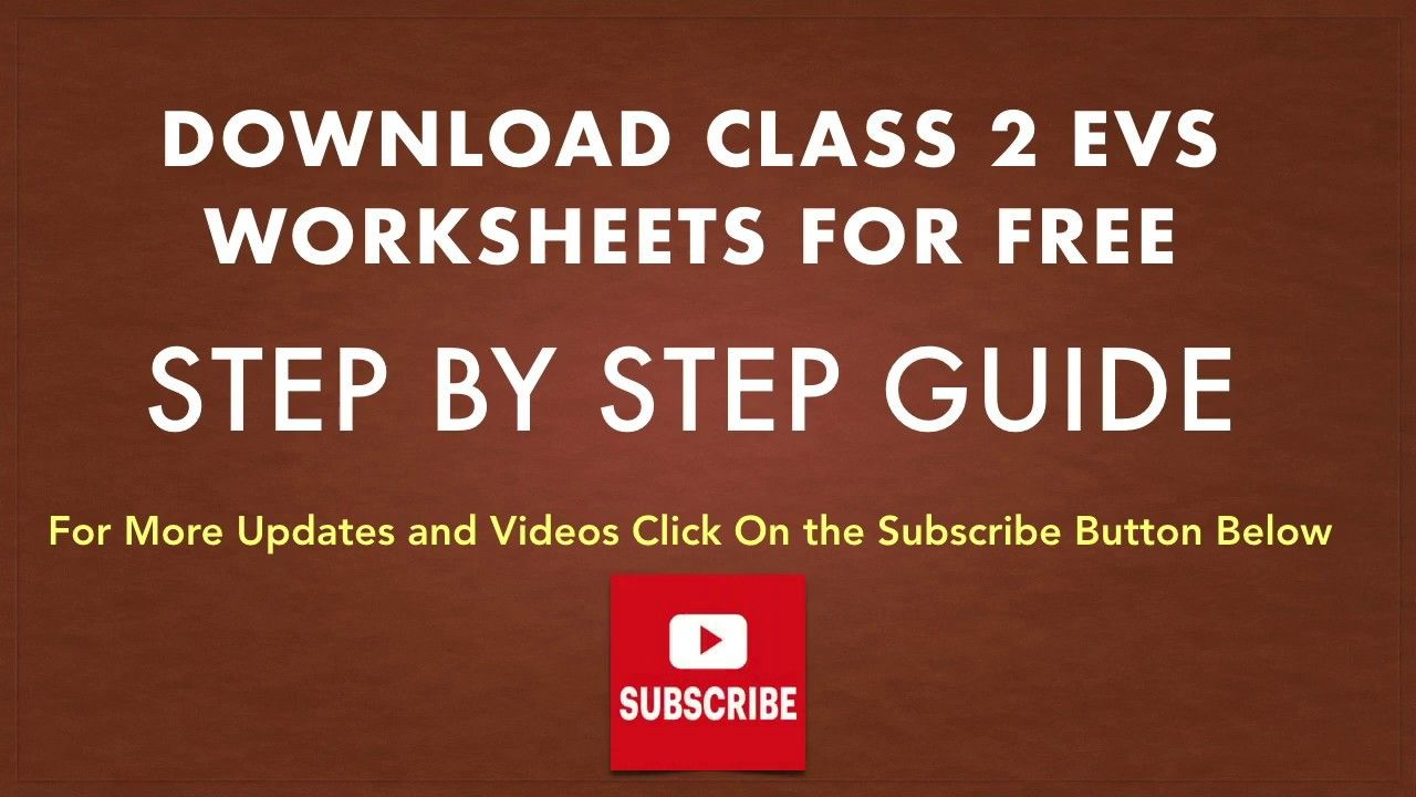 Class 2 Evs Worksheets Free Download Worksheets For Class 1 Model Question Paper Worksheets