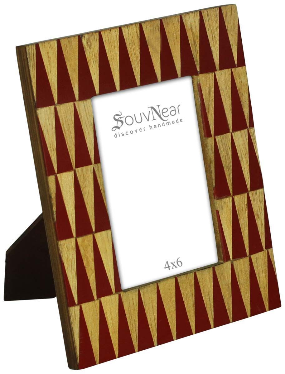 Bulk Buy 3.5x5 Inches Red & Beige Picture Frame - Wholesale Hand ...