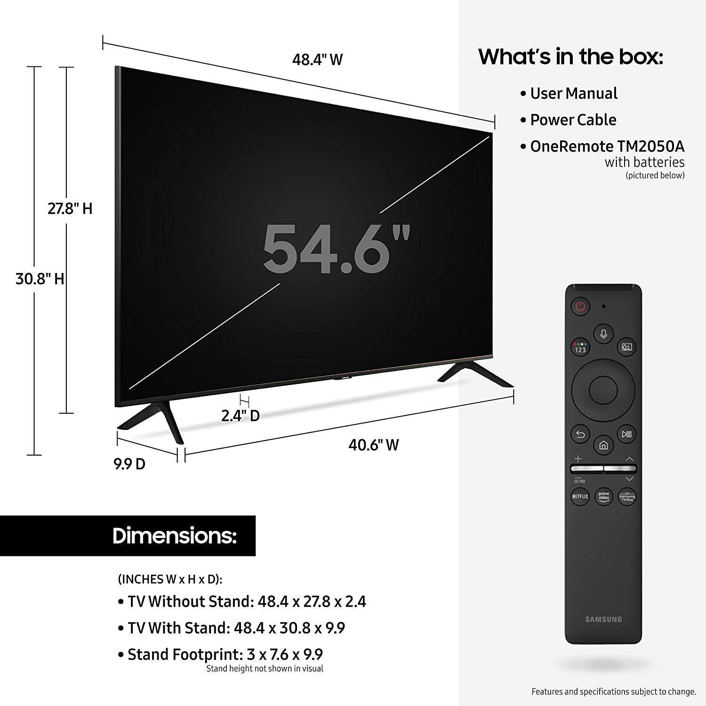 Samsung 55 Inch Class Crystal Uhd Tu 8000 Series 4k Uhd Samsung Smart Tv Samsung 85