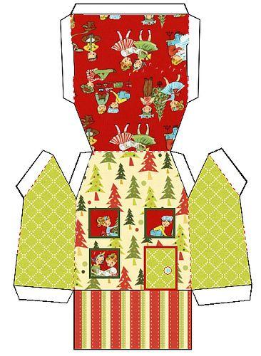 Red Kids Christmas House 1 by allatseawithabucketandspade