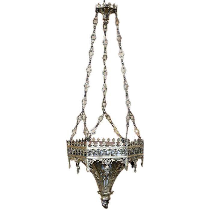 1stdibs   Antique Gothic Bronze Incense Burner Chandelier - Antique Gothic Bronze Incense Burner Chandelier Incense Burner