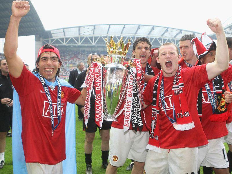 Image result for tevez premier league trophy 07-08