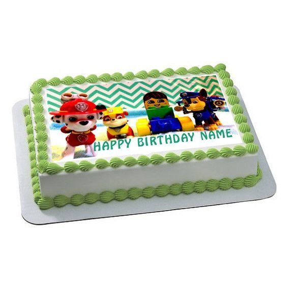 Patrol Lego Edible Birthday Cake Topper OR Cupcake Topper Decor