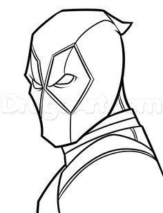 Drawing Deadpool Easy Step 6