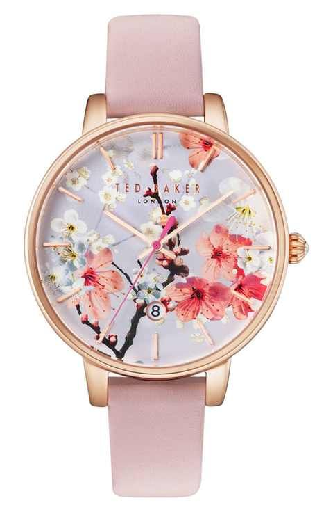 aa22dbc00 Ted Baker London Kate Round Leather Strap Watch