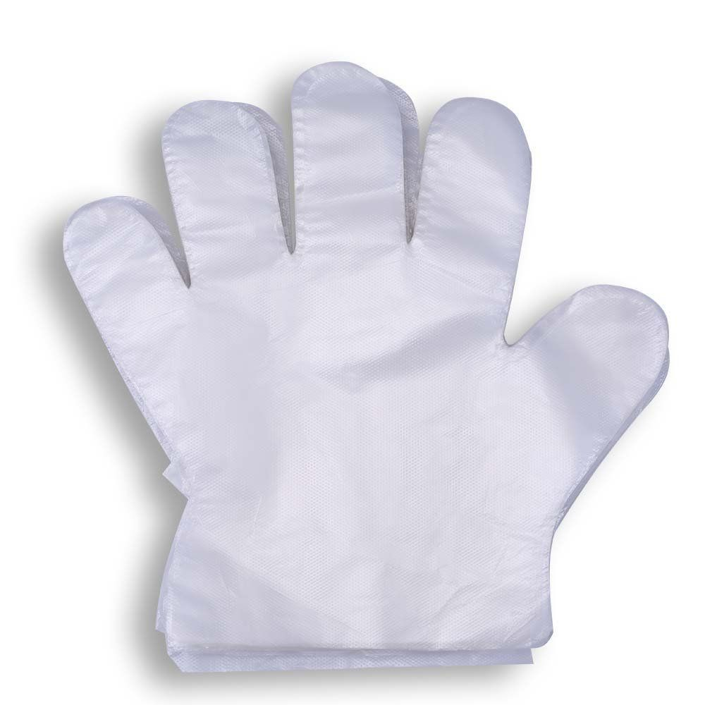 200 pcs disposable poly pe gloves food service safety
