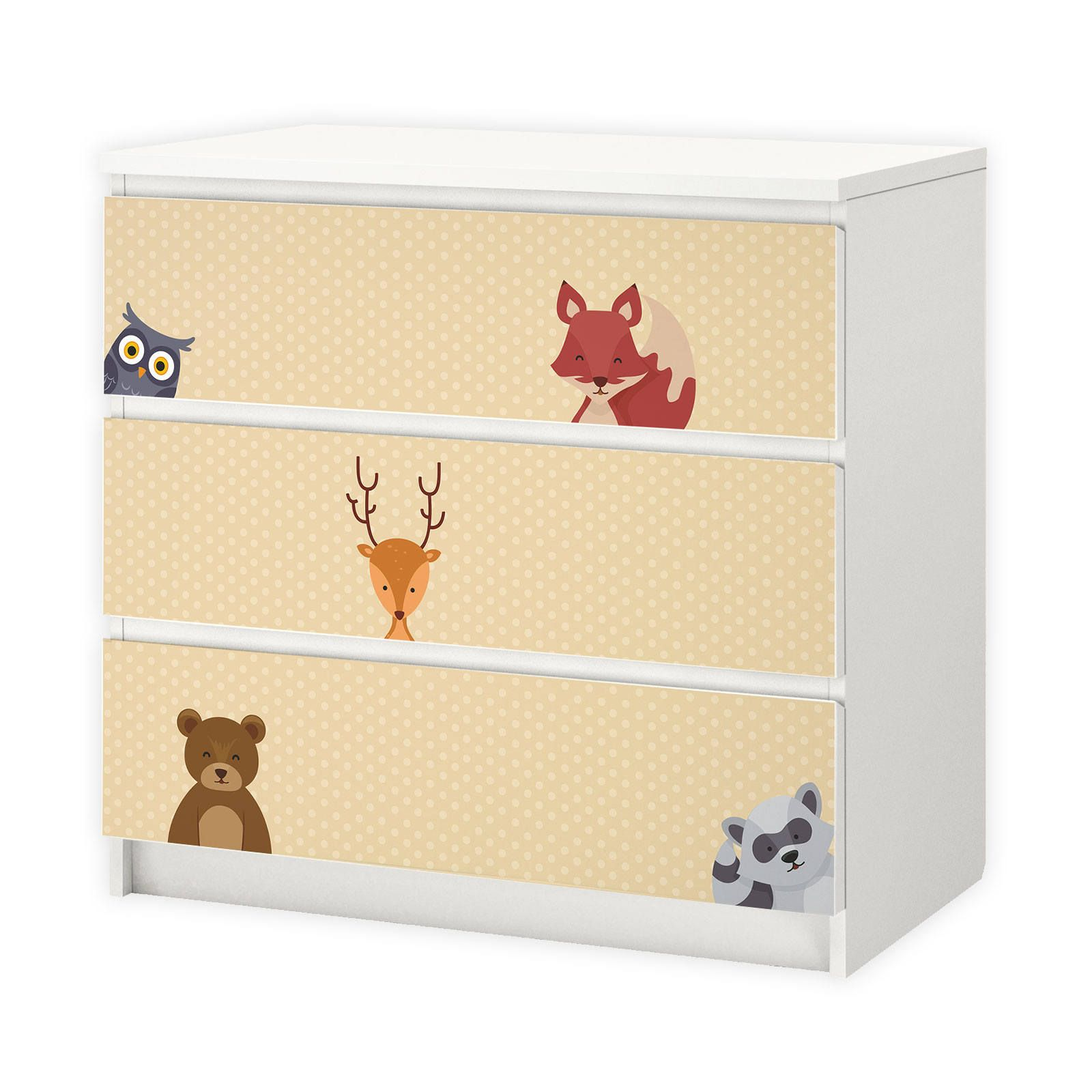 Mobelfolie Folie Kinderzimmer Malm Waldtiere Diy Doityourseslf Kinder Zimmer Ikea Malm Kinderzimmer