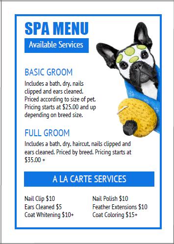 Dog Grooming Price List Templates Bundle 16 Dog Grooming Dog Groomers Pet Grooming