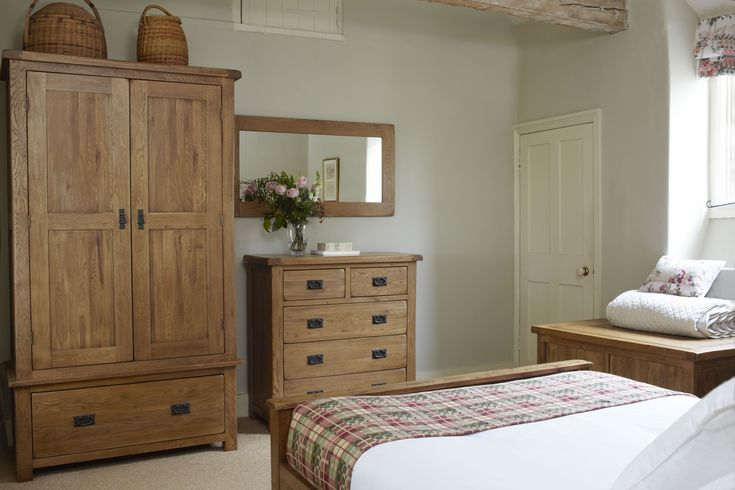 Rustikale massive Eiche Schöne Schlafzimmermöbel