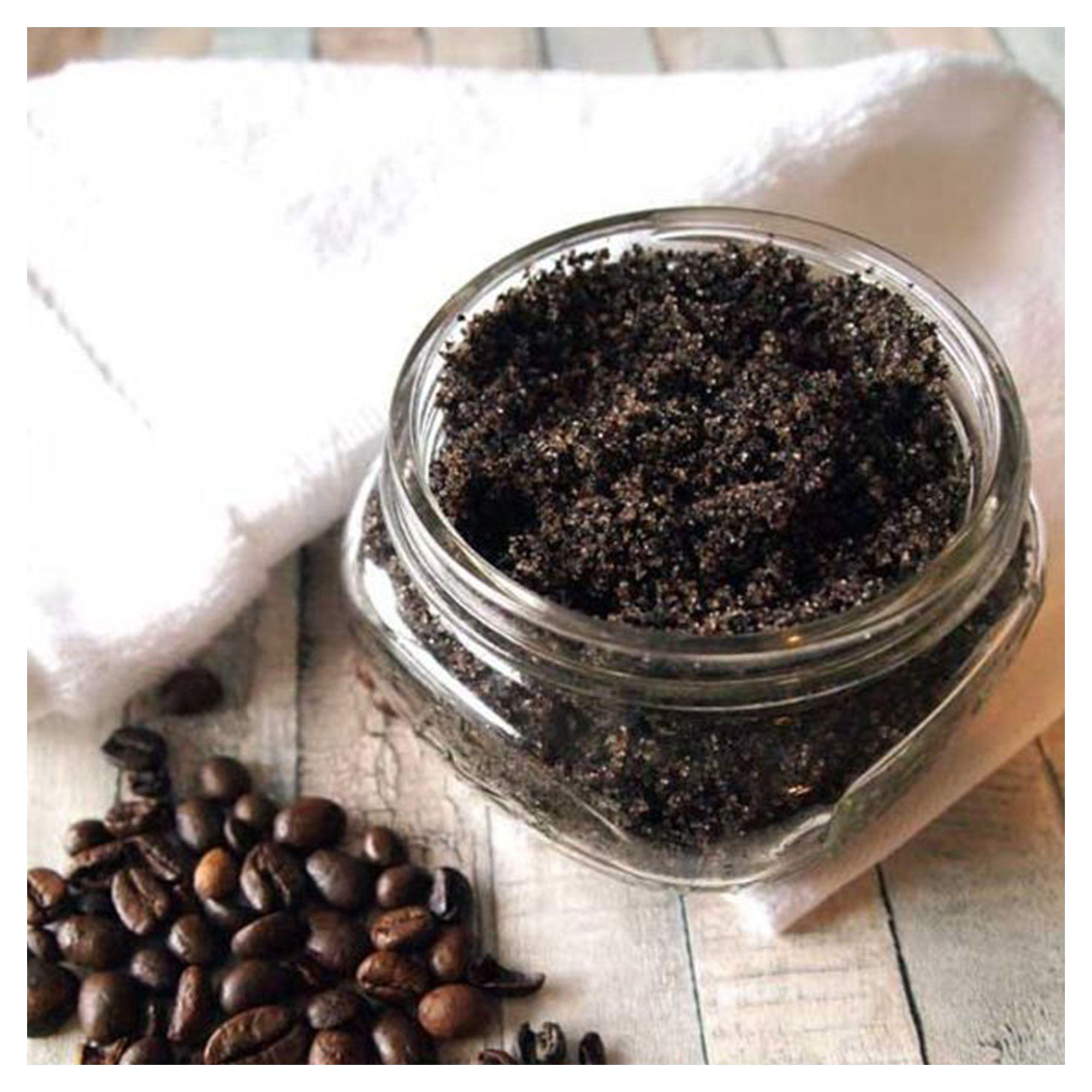 Coffee body scrub exfoliator natural skin care face