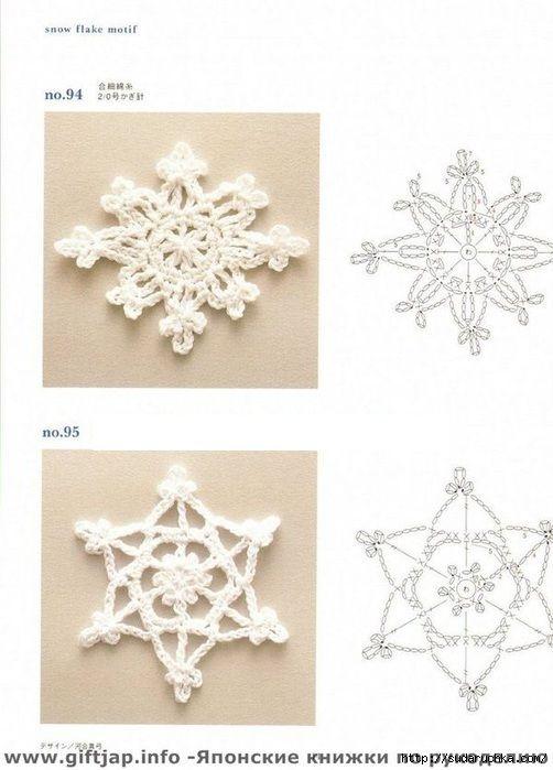 Ondori motif and edging designs | Navidad, Nieve y Cristhmas