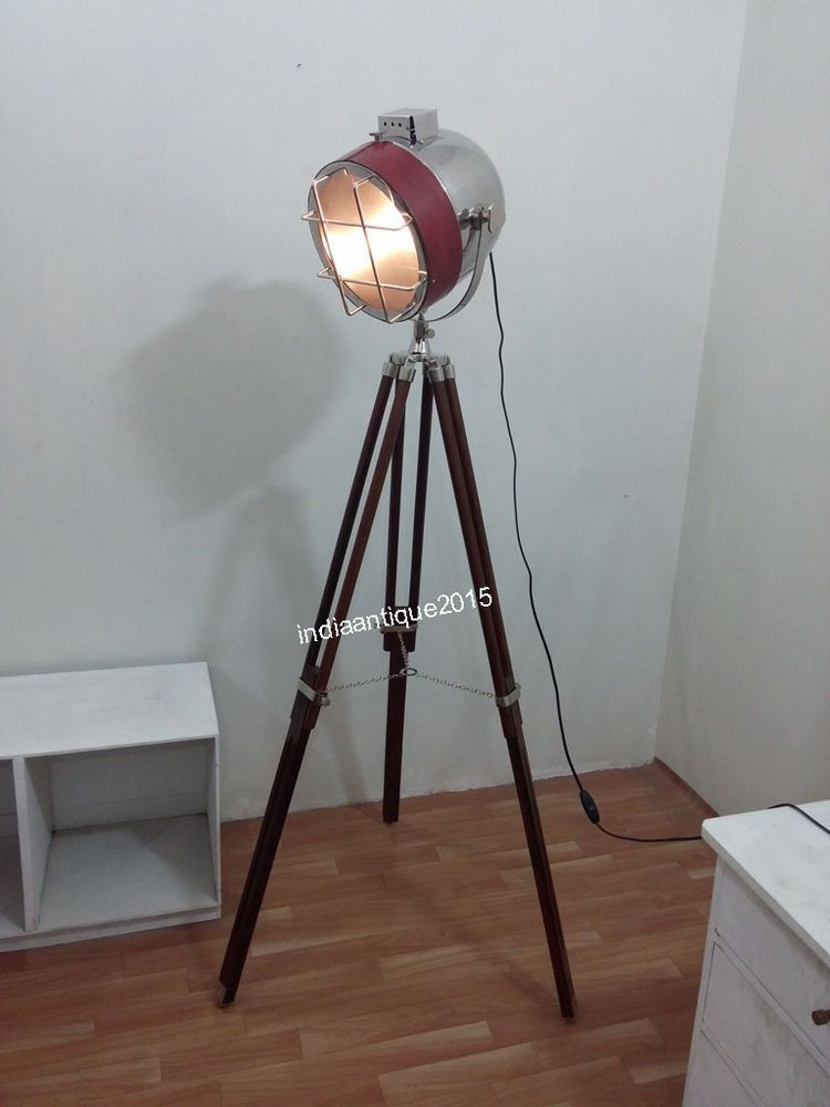 Vintage cinema prop design floor lamp with tripod modern spotlight vintage cinema prop design floor lamp with tripod modern spotlight searchlight aloadofball Images