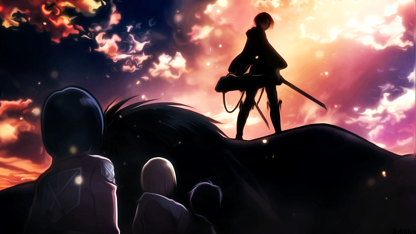 View Download Comment And Rate This 1366x768 Shingeki No Kyojin Levi Wallpaper Wallpaper Abyss L Attacco Dei Giganti