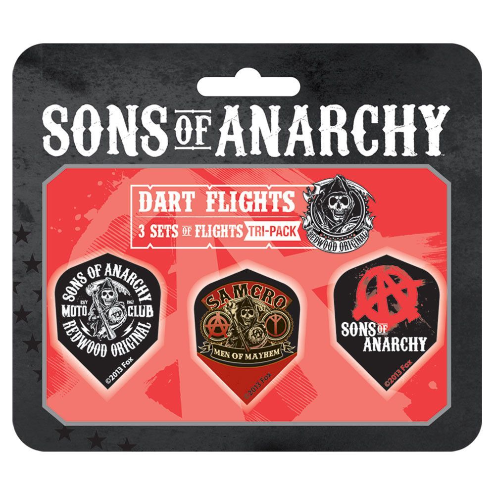 Sons of Anarchy Tri-pack Standard Flights (Set of 2)