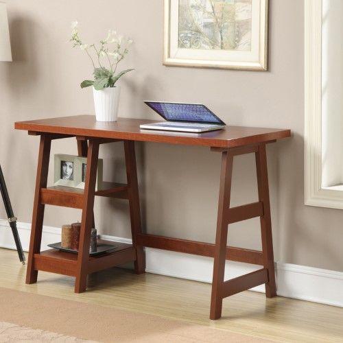 "Brand new Convenience Concepts Designs2Goâ""¢ Trestle Writing Desk, Red  AE67"