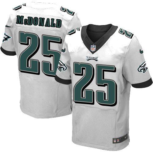 promo code 76103 c7870 Nike Elite Tommy McDonald White Men's Jersey - Philadelphia ...