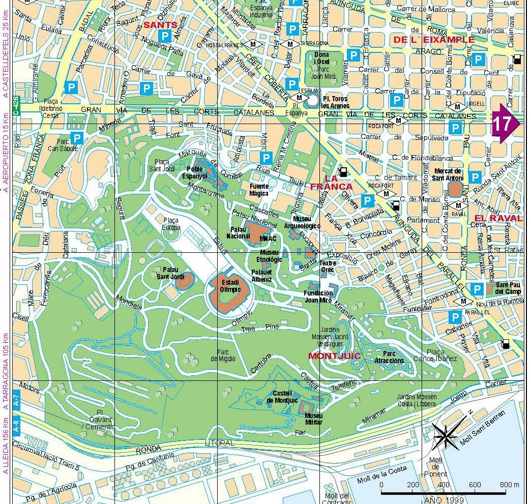 Carte Barcelone Sants.Cartes Et Plans Detailles De Barcelone Croisiere Espagne