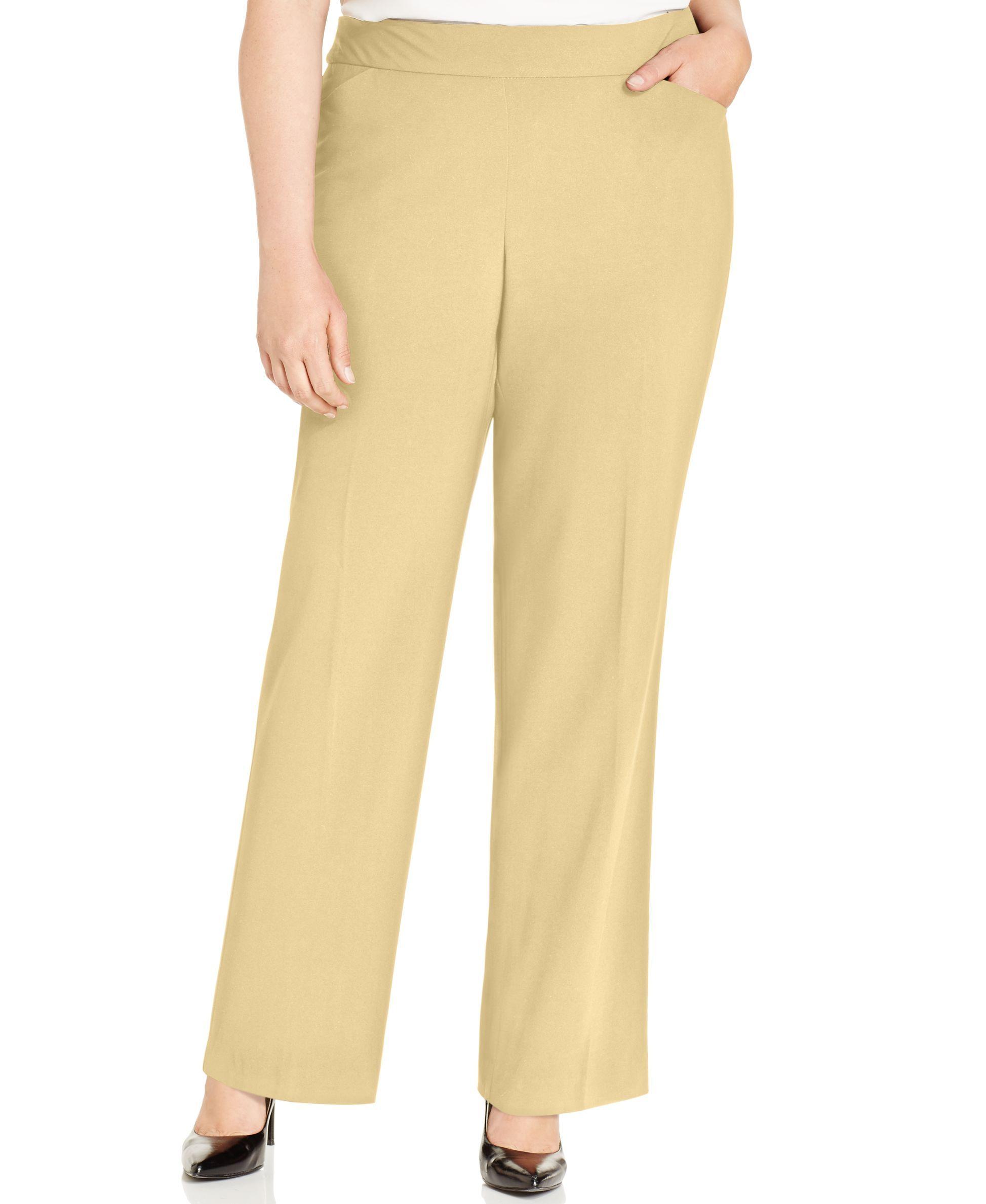 406a195a4f3 Plus   Petite Plus Size Curvy-Fit Straight-Leg Pants