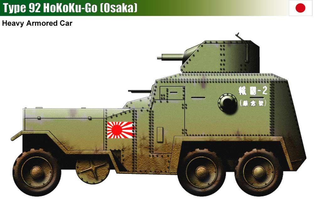 Type 92 Hokoku Go Osaka Armored Car Armored Vehicles Military